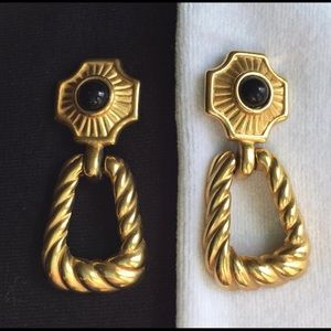 Vintage 14k Gold Plated Trifari Earrings